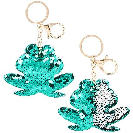Amazon.com: Llavero con lentejuelas de sirena con diseño de ...