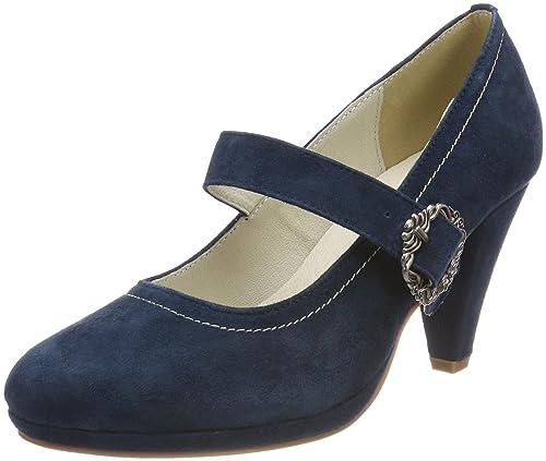 Zapatos de tacn con Punta Cerrada de Piel Mujer, Color Marrn, Talla 38 EU Hirschkogel