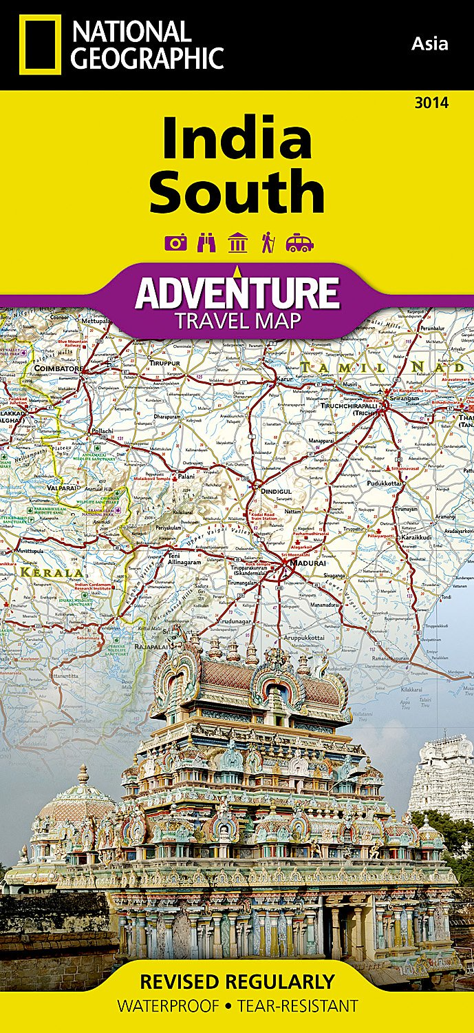 India, South (National Geographic Adventure Map, Band 3014)