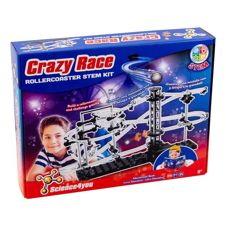 Science4You-Science4You-Crazy Science4You-Crazy Race Stem Kit-Educational and Scientific Toy, Multi-Colour, 37288 cm (612730)