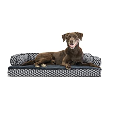 FurHaven Pet Dog Bed   Orthopedic Sofa-Style Couch Pet Bed for Dogs & Cats Styles