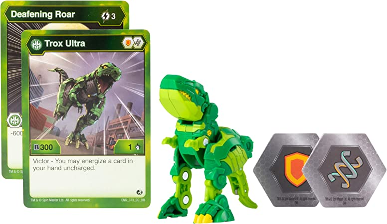 Bakugan Ultra, Trox, 3-inch Tall Collectible Transforming Creature, for Ages 6 and Up