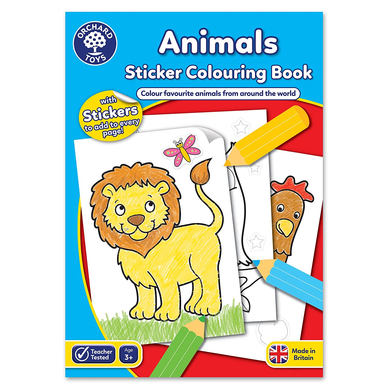 Orchard Toys Animals Sticker Colouring Book CB01
