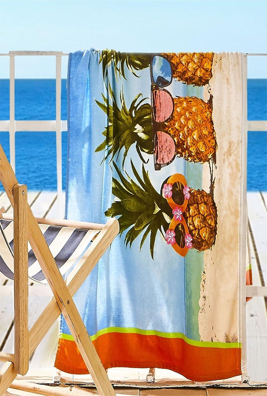 160/x 76/x 0.4/cm Catherine Lansfield telo da spiaggia ananas multi cotone multicolore