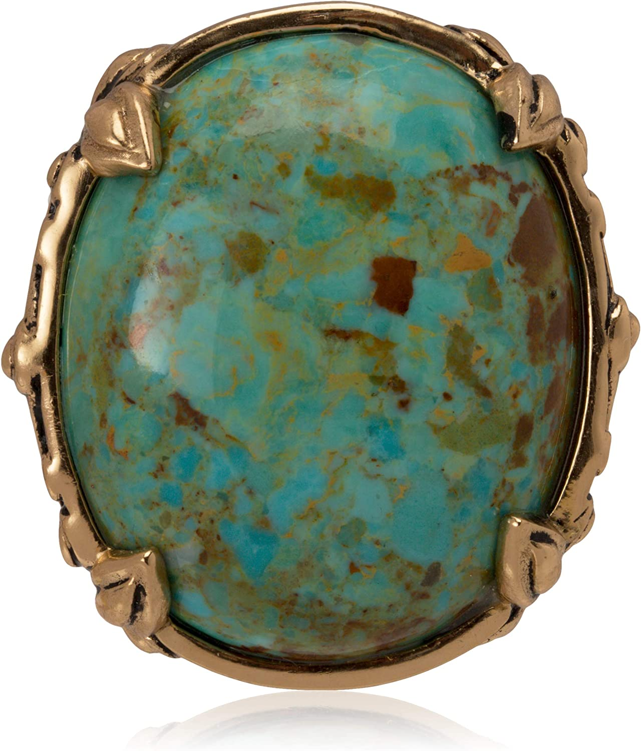 Barse Jubilee Turquoise Oval Ring