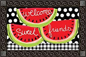 Studio M MatMates Sweet Watermelon Decorative Floor Mat Indoor or Outdoor Doormat with Eco-Friendly Recycled Rubber Backing, 18 x 30 Inches