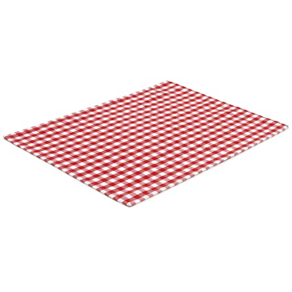 FILU Tischset 4 Stück Rot/Weiß kariert (Farbe und Design wählbar) 33 x 45 cm - hochwertig gefertigte Platzsets aus 100% Baumw