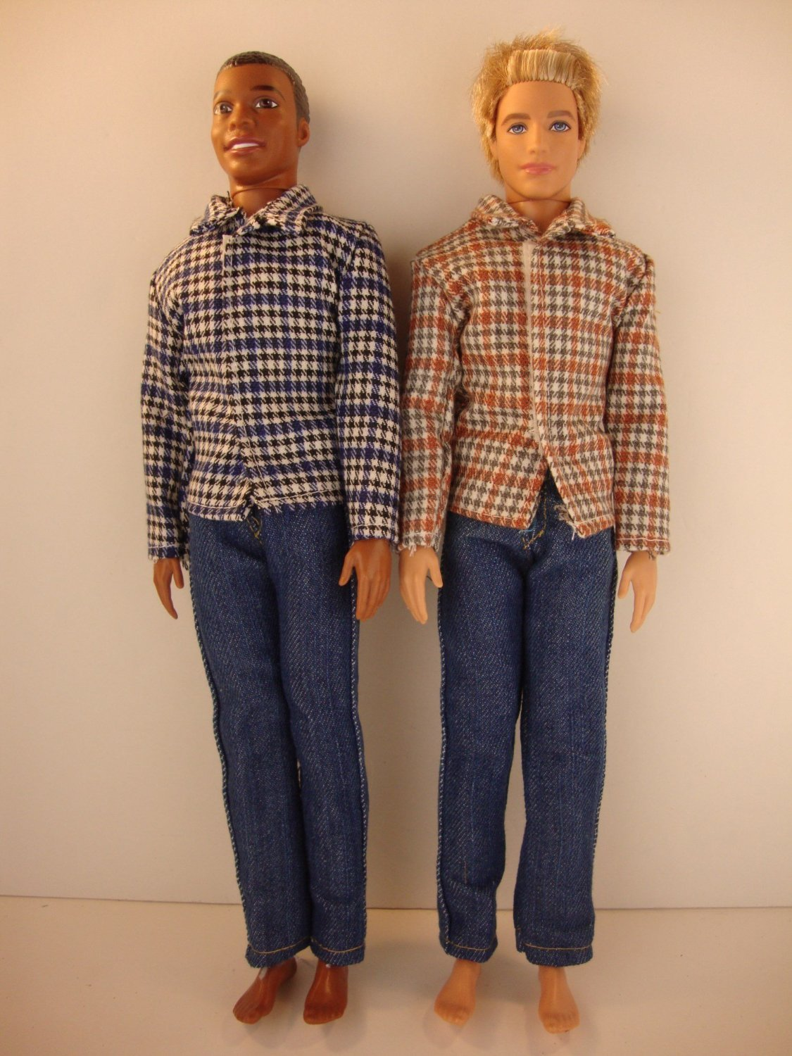 Amazon Set Of 2 Ken Doll Outfits Jeans With Flannel Shirts 4