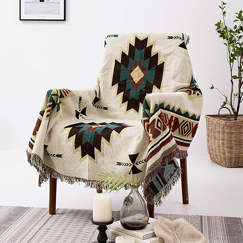 Aztec Southwestern Decor Throw Blanket, 50