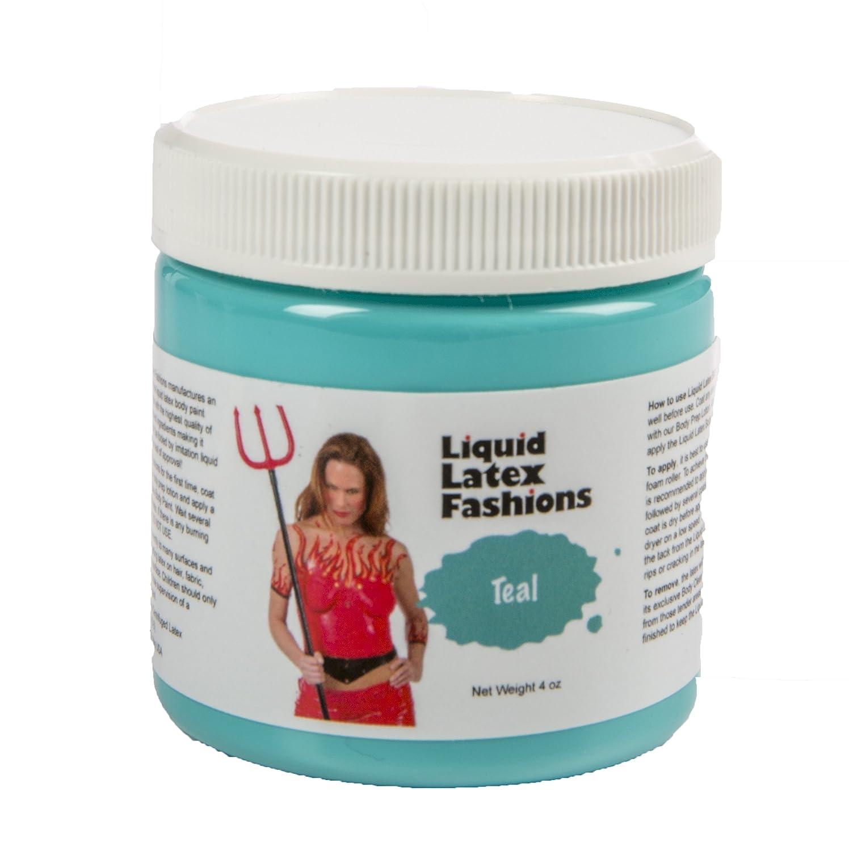 Teal Liquid Latex body Paint - 4oz Liquid Latex Fashions 010521
