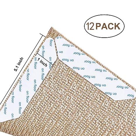QLONG Pinzas para alfombras, 12 Unidades, Reutilizables, Antideslizantes y Antideslizantes, Ideales como