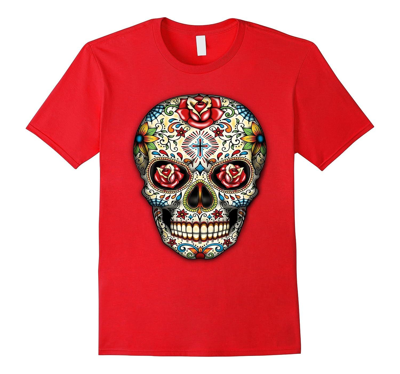 Sugar skull shirt Day of Dead shirt Dia de los Muertos shirt-Veotee