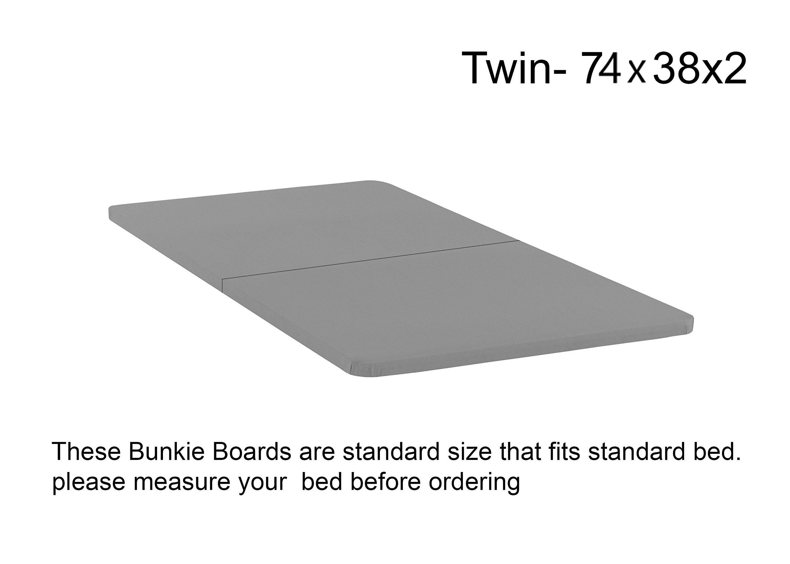 Spinal Solution BByy-3/3s Foundation/Bunkie Board, Mattress Support Twin Size