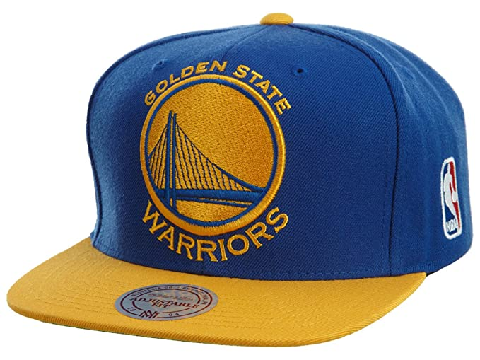 8e81bba0 Golden State Warriors Mitchell & Ness XL Logo Snapback Cap Hat Blue Yellow