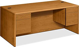 product image for HON Double Pedestal Desk, 72 by 36 by 29-1/2-Inch, Harvest