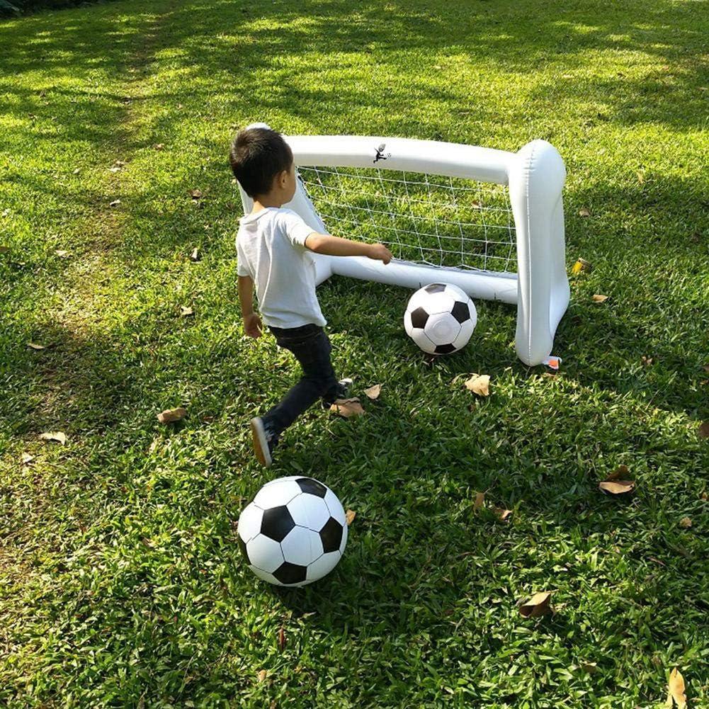 Szseven La Tierra de la Bola de Fútbol de la Red de la Correa Inflable 110 cm Juega el pequeño Objetivo de fútbol del Juego: Amazon.es: Hogar