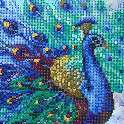 76a13285a9 Diamond Painting Peacock Flaunting Its Tail 5D Diamond DIY Painting Craft  Kit Amazingdeal365 Home Decor