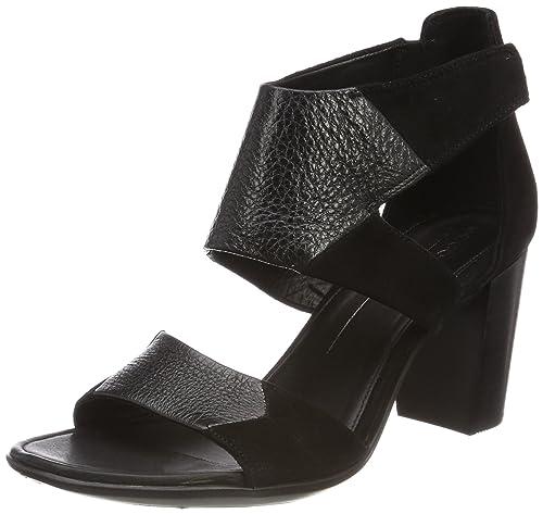 0fbaf5bc40b ECCO Women's Women's Shape 65 Block Ankle Strap Heeled Sandal Black, 39 M  EU (8-8.5 US)