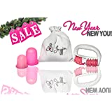 Anti-Cellulite Silicone Vacuum Massage Cup Kit by Jayja: Massage Cups and Massage Roller Set for Cupping Therapy. Stretch Mark Reduction, Smooth Skin,Improve Blood Flow