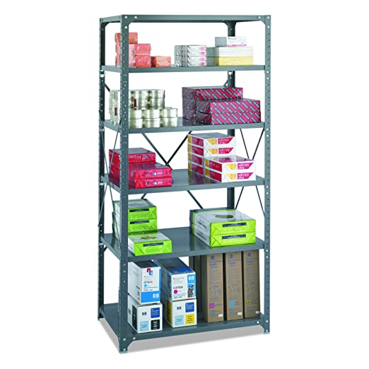 Amazon Safco Products 6270 Commercial Shelf Kit 36W X 24D 72H With 6 Shelves Gray Home Improvement