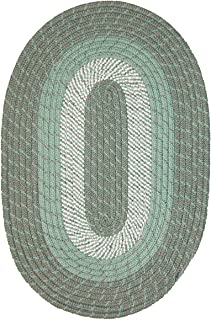 "product image for Constitution Rugs Plymouth Braided Rug in Mist Green (40"" x 60"" Oval)"
