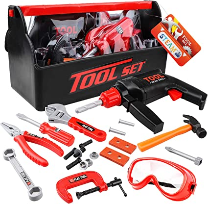 Children Kids Building Construction Toy Drill Tool Box Set kids children/'s gift
