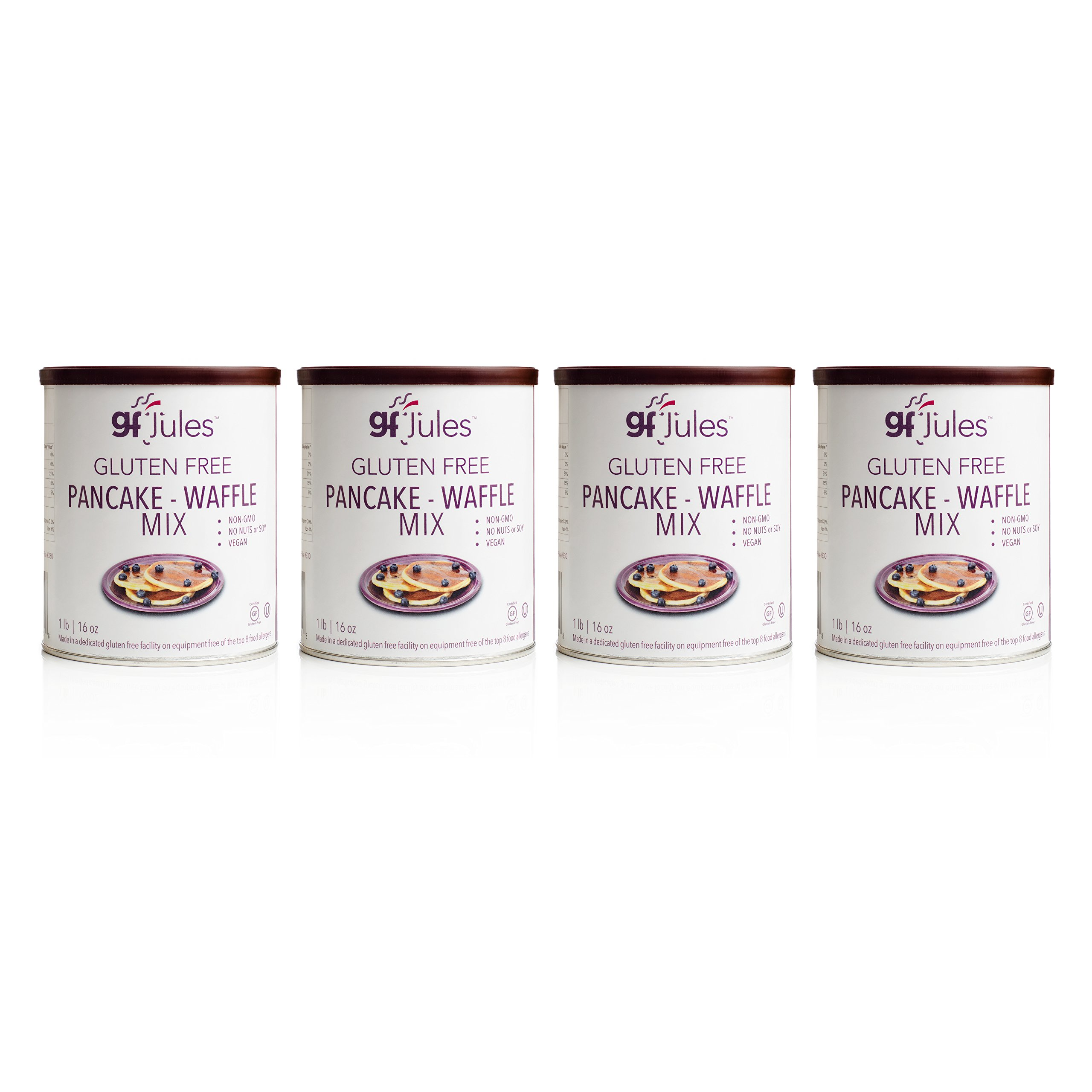 gfJules Gluten Free Pancake & Waffle Mix - Voted #1 by GF Consumers 1 lb, Pack of 4 by gfJules