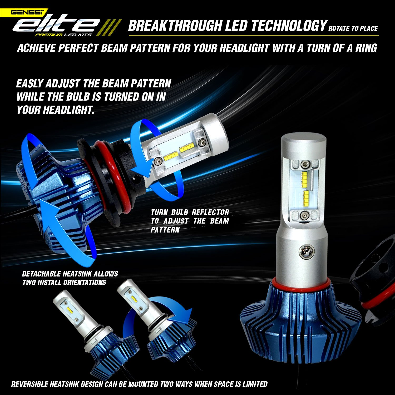 Amazon GENSSI Elite LED Headlight Bulbs Kit K Super White