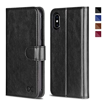 Ocase Iphone Xs Case Iphone Xs Wallet Case Iphone Xs Leather Case With Auto Wake Sleep Tpu Inner Shell Card Slots Kickstand Flip Cover
