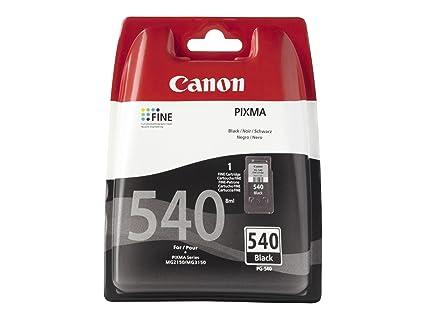Canon PG-540 Cartucho de tinta original Negro para Impresora de Inyeccion de tinta Pixma TS5150-TS5151-MX375-MX395-MX435-MX455-MX475-MX515-MX525-MX535...