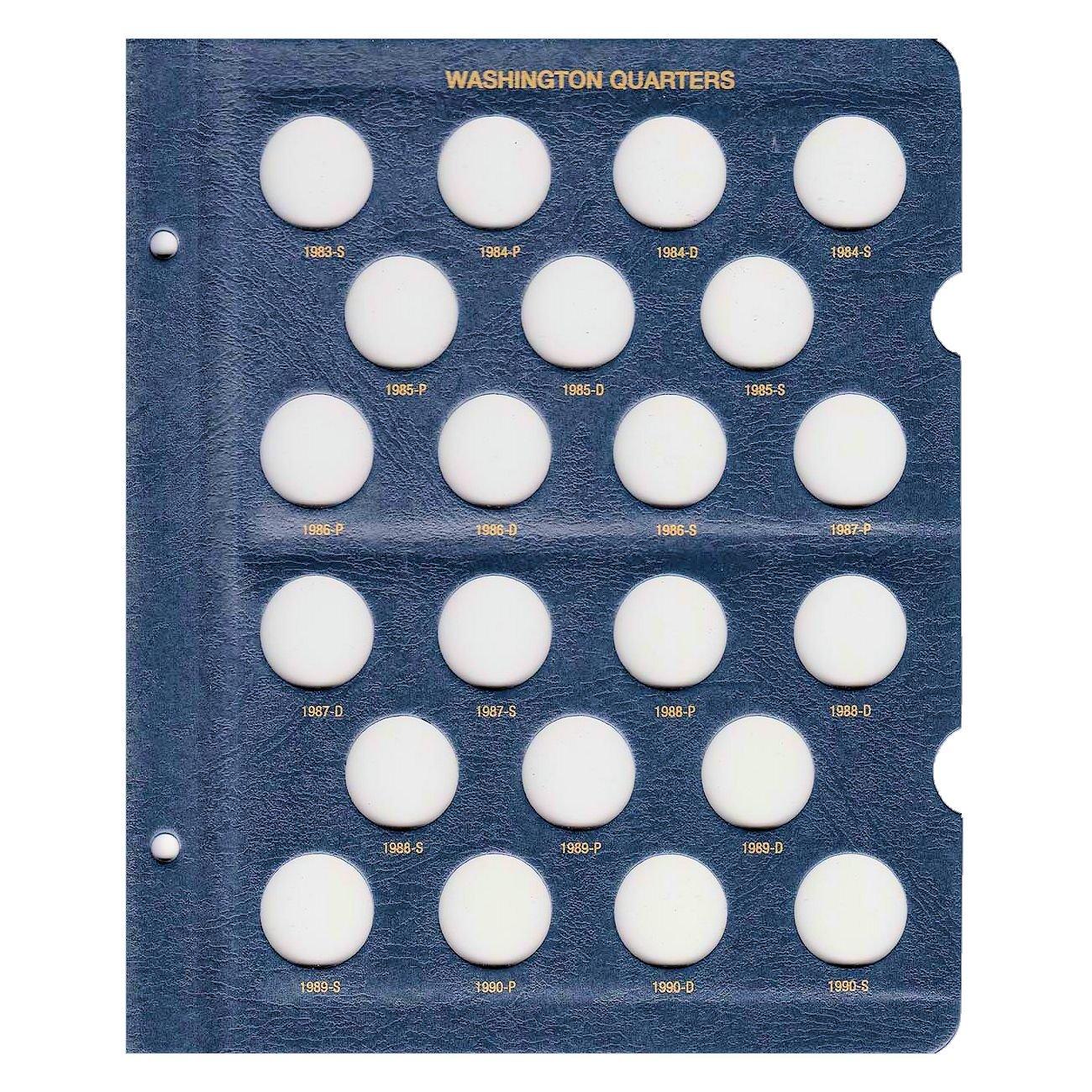 Whitman US Washington Quarter Coin Album 1932 - 1990 #9122