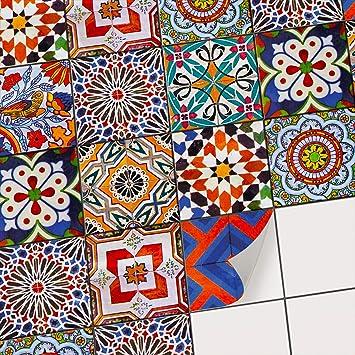 Fliesensticker Für Küchenrückwand Und Badfliesen | Traditionelle Fliesen Aufkleber  Mit Tollen Ornamenten   Klebefolie Zur