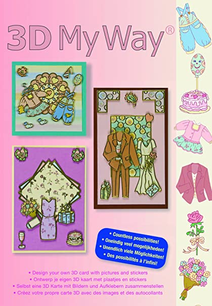 Kit Karte.3d My Way Card Making Kit For Scrapbooking Dresses Style Amazon In