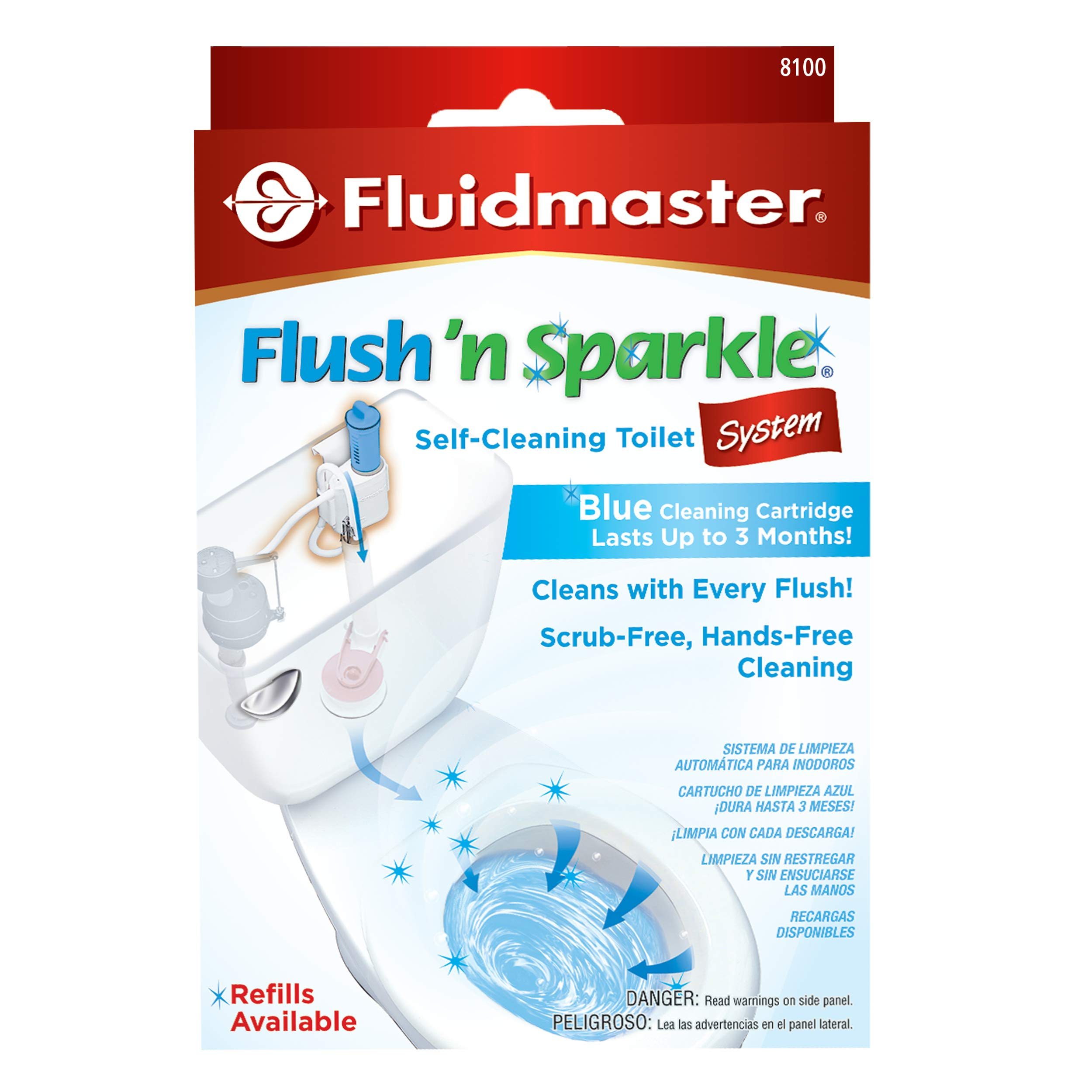 Fluidmaster 8100 Flush 'n Sparkle Automatic Toilet Bowl Cleaning System, Blue by FLUSH N SPARKLE