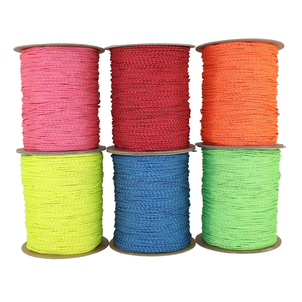 SGT KNOTS Spectra Cord (1.5 mm x 100 feet) - Low-Stretch Hi-Visibility Accessory Rope - Polyester Cover, Spectra Core - for Hammocks, Tie-Downs, Camping, Survival, Boot Laces, More (Red) by SGT KNOTS
