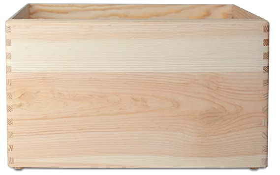 Creative Deco XXL Grande Caja Madera Fruta para Decorar | 40 x 30 x 24 cm | Asas | Baúl Cofre Decoracion Almacenaje Herramiente Decoupage Documentos Objetos ...