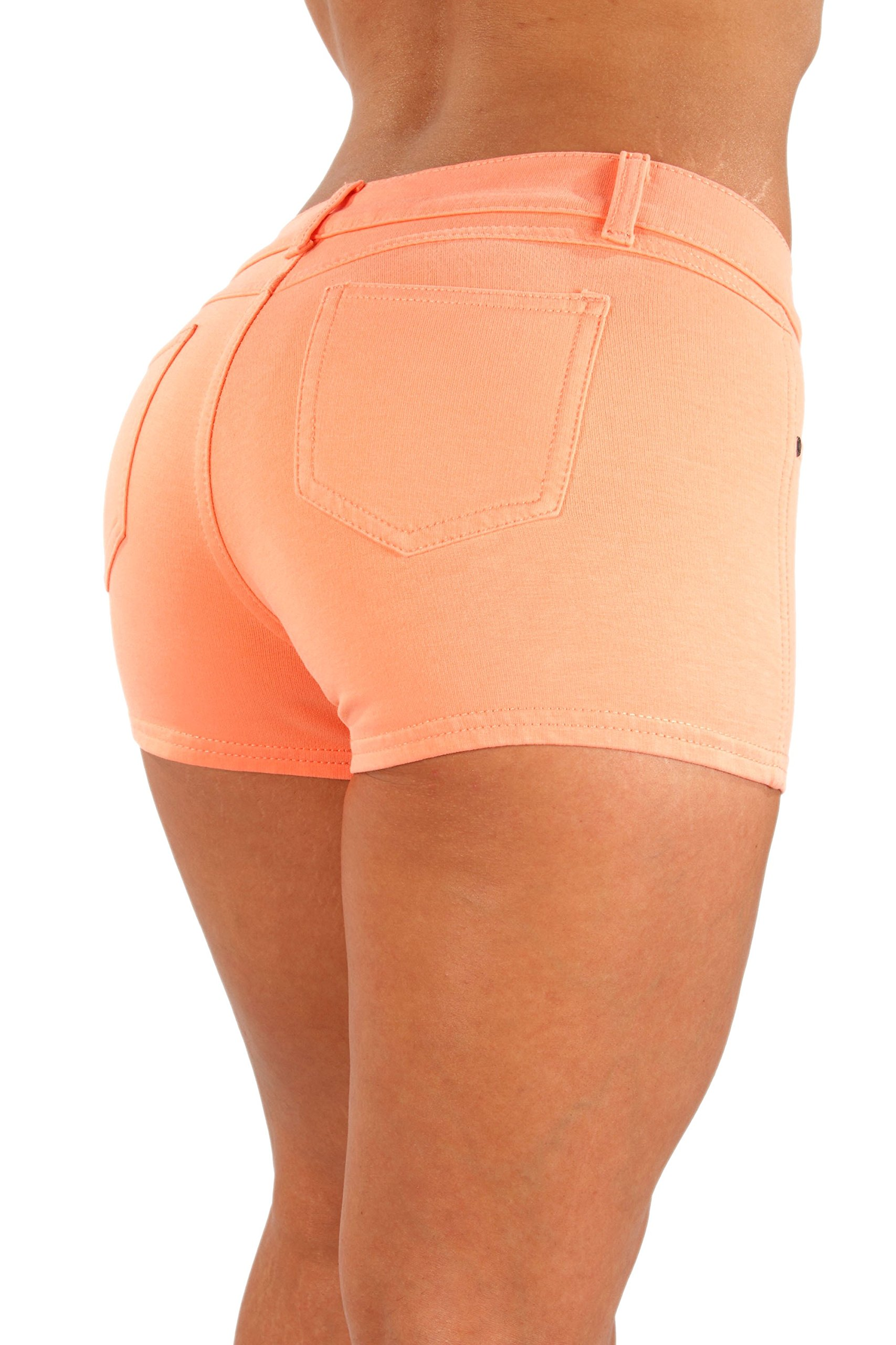 Fashion2Love IF-267-Basic butt lifting French Terry Booty Shorts - 10 Colors available !!!
