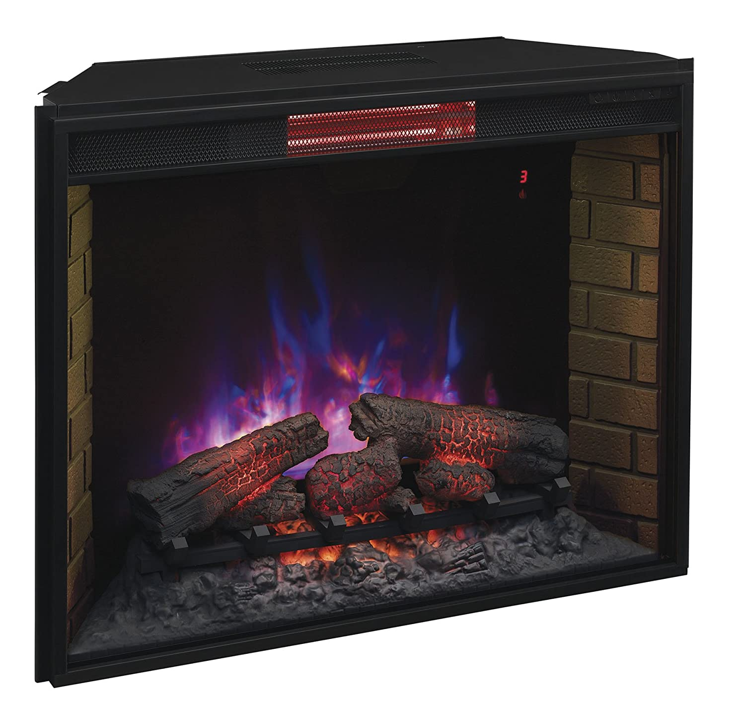 "Amazon.com: ClassicFlame 33II310GRA 33"" Infrared Quartz Fireplace Insert with Safer Plug: Home & Kitchen"