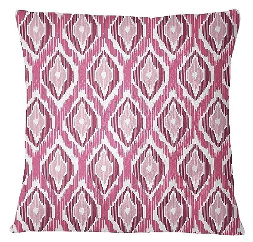 S4Sassy Blush Pink ikat impresión de almohada cubierta Cojín ...