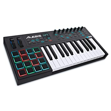 Alesis VI25 | 25-Key USB MIDI Keyboard Controller with 16 Pads, 8  Assignable Knobs, 24 Buttons and 5-Pin MIDI Out, Plus a Professional  Software Suite