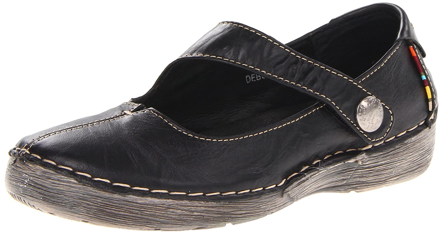 Spring Step Women's Debutante Mary Jane Flat B00CP5YEV4 40 M EU / 9 B(M) US|Black