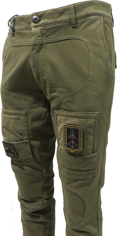 Aeronautica Militare Pantalone Felpa PF677 Verde Militare Uomo Jersey Tuta Polo frecce tricolori
