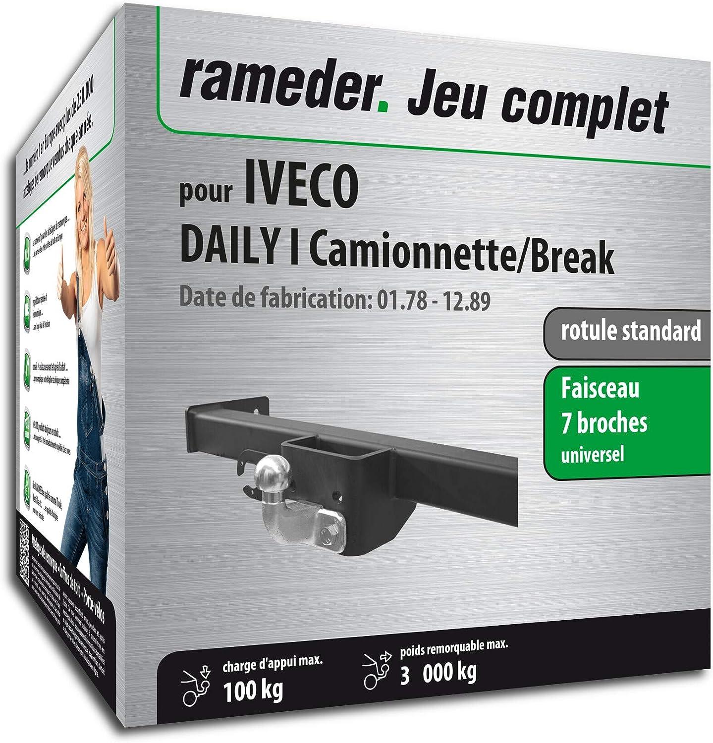 129519-09520-6-FR Rameder Pack attelage rotule Standard 2 Trous pour IVECO Daily I Camionnette//Break Faisceau /électrique 7 Broches