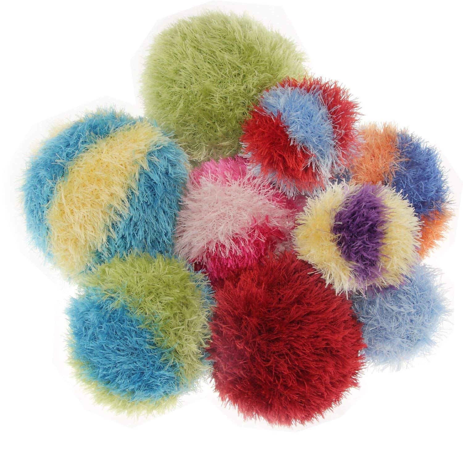 OoMaLoo Hand Knit Squeaky Ball Dog Toy X-Large 7   (Ball-XL)assorted colours