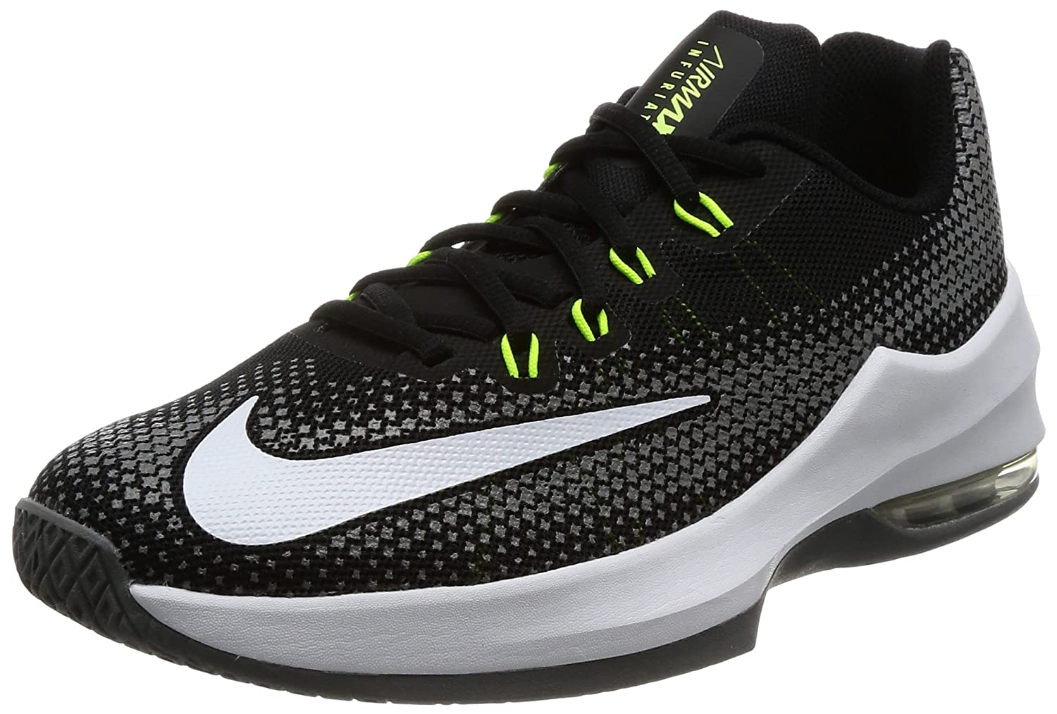 new styles 1a811 70dcf Amazon.com   Nike Boy s Air Max Infuriate (GS) Basketball Shoe  Black White Volt Cool Grey Size 6 M US   Athletic