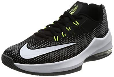 NIKE Boy's Air Max Infuriate (GS) Basketball Shoe Black/White/Volt/