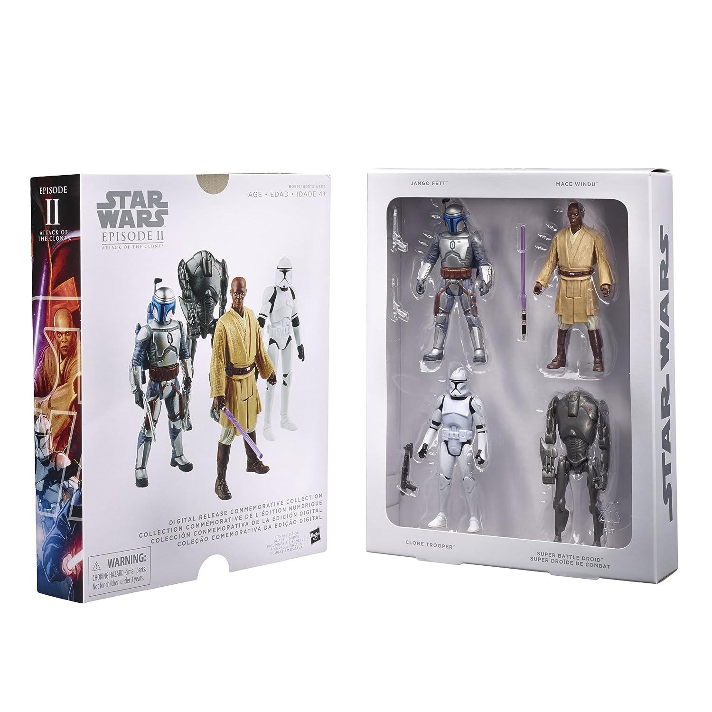 Star Wars 4 teiliges Figuren Set Episode II - Digital Release Commenorative Collection - Hasbro Star Wars