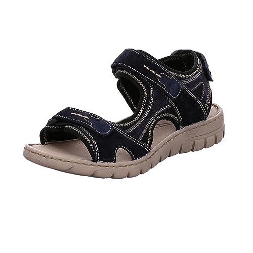 Josef Seibel Women's Stefanie 23 Ankle Strap Sandals, Blue (Blue Multi), 4