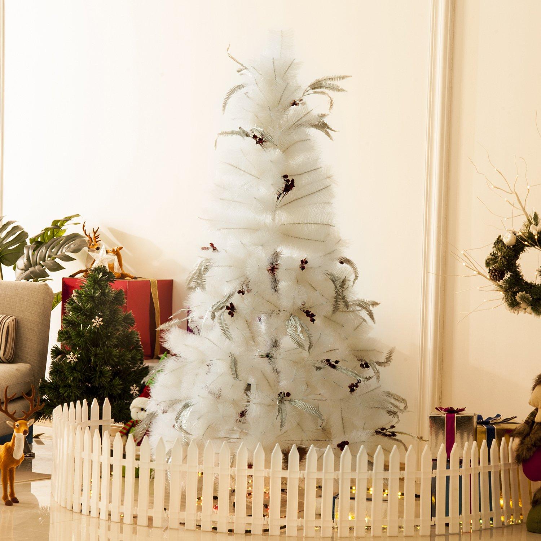 Homcom Indoor Christmas Tree Artificial Berry Snow Xmas Decoration With