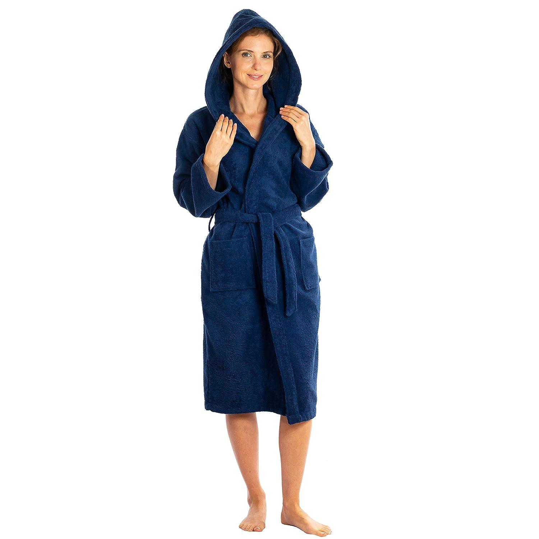 Silken Kids Teenagers Boys Hooded Robe Unisex 100% Turkish Cotton Terry Bathrobe